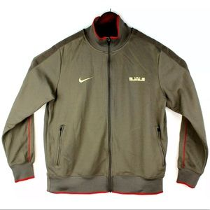 Nike Lebron Track Jacket Brown Red 2XL